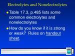 electrolytes and nonelectrolytes33