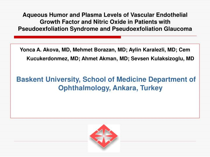 Aqueous Humor and Plasma Levels of Vascular Endothelial Growth Factor and Nitric Oxide in Patients w...