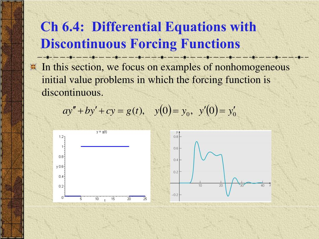 ch 6 4 differential equations with discontinuous forcing functions l.
