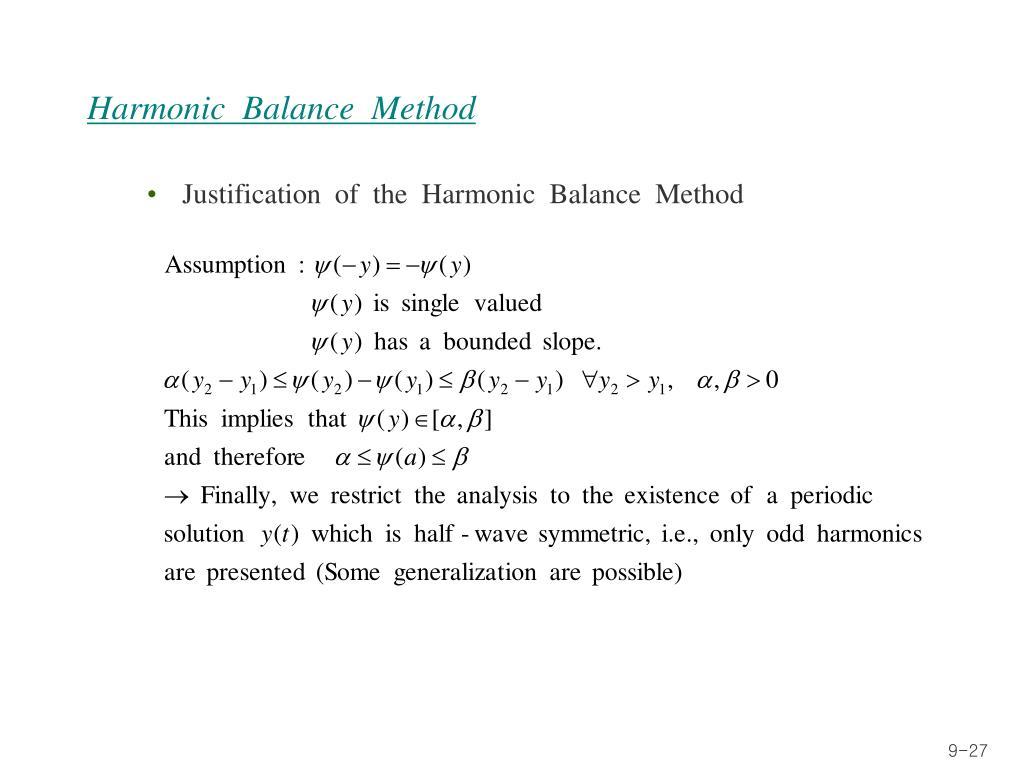 Harmonic  Balance  Method