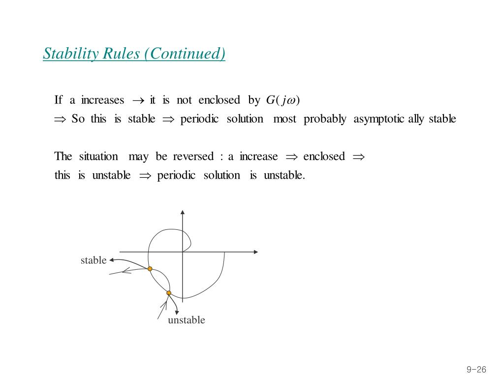 Stability Rules (Continued)