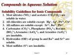 compounds in aqueous solution17