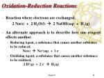 oxidation reduction reactions41
