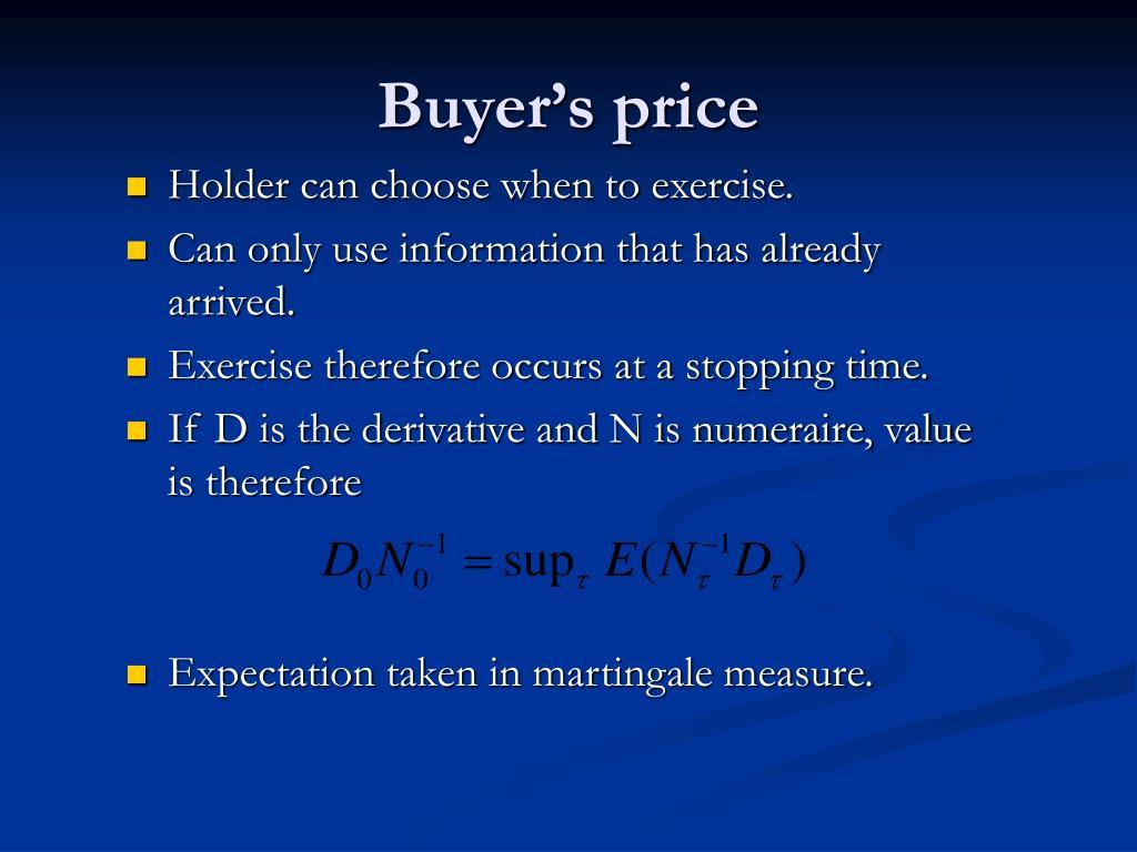 Buyer's price