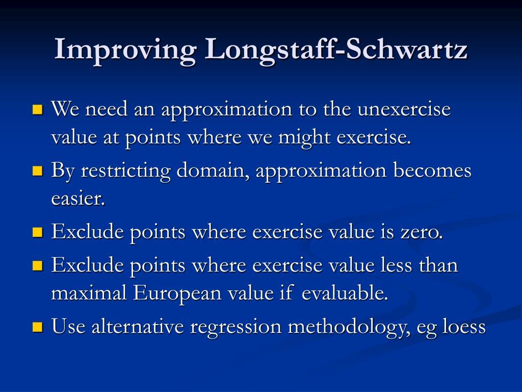 Improving Longstaff-Schwartz