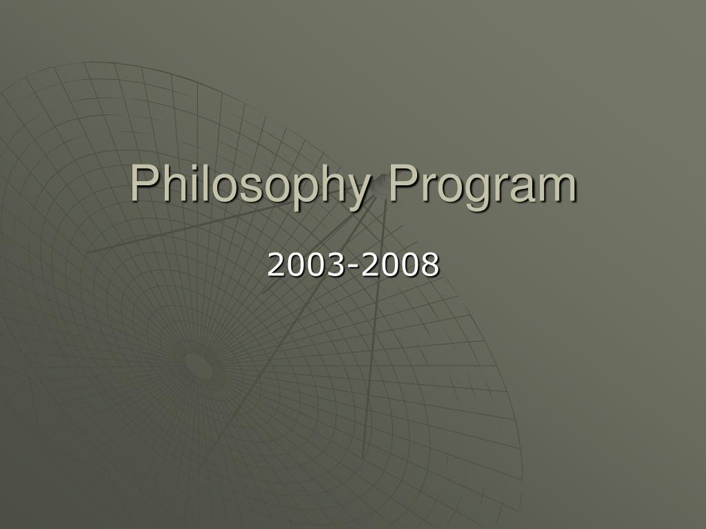 philosophy program l.
