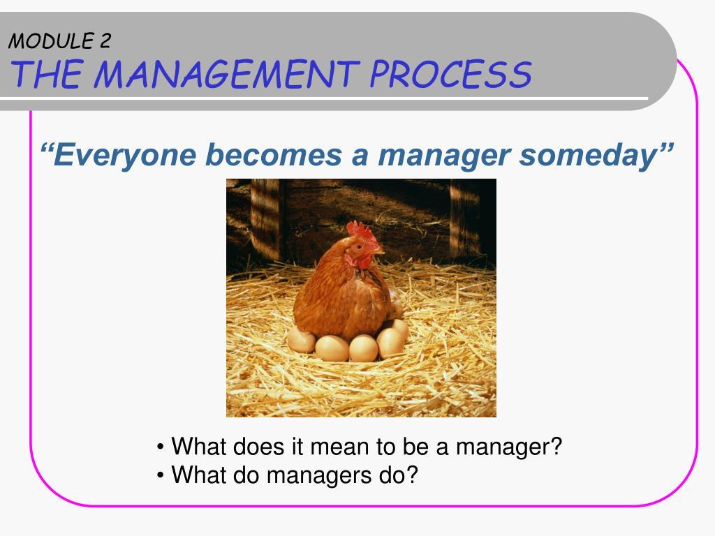 module 2 the management process l.