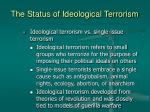 the status of ideological terrorism3