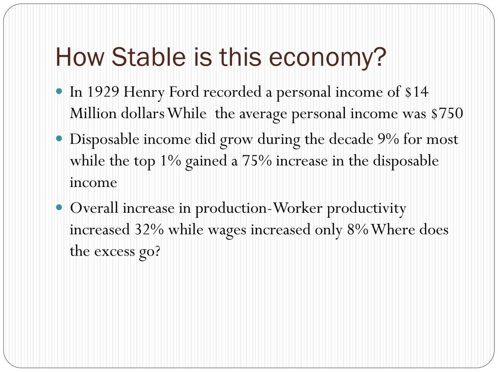 How Stable is this economy?