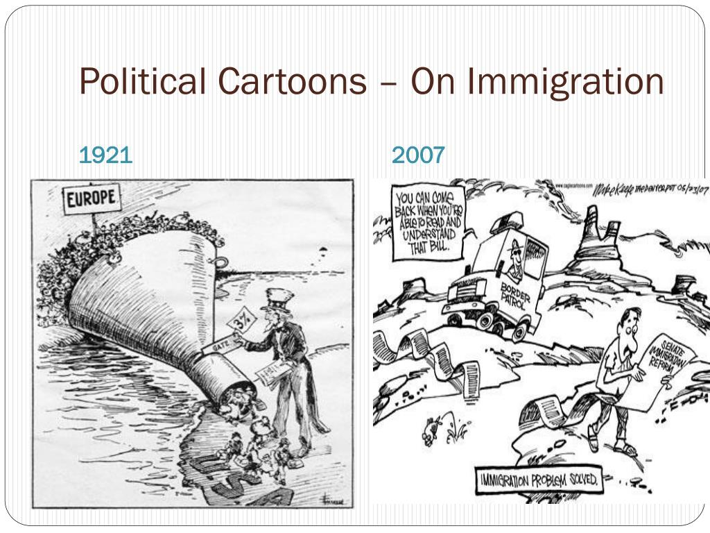Political Cartoons – On Immigration