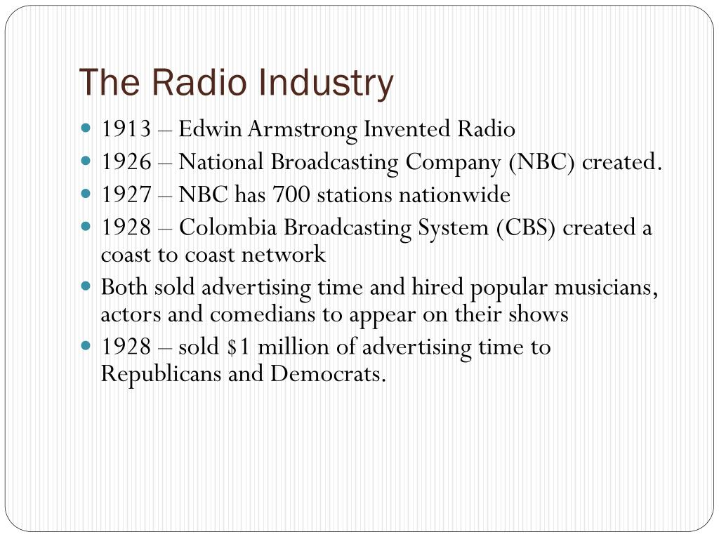 The Radio Industry
