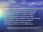 an economic journey through the erie canal