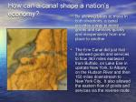 how can a canal shape a nation s economy