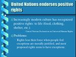 united nations endorses positive rights