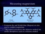measuring magnesium