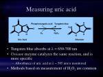 measuring uric acid