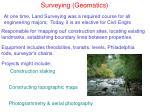 surveying geomatics