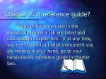 chapter 2 a reference guide