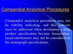 compendial analytical procedures33