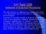 ich topic q2b validation of analytical procedures