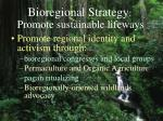 bioregional strategy promote sustainable lifeways