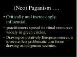 neo paganism