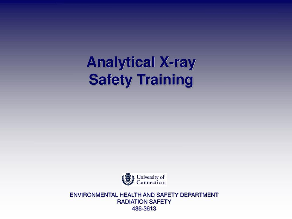 analytical x ray safety training l.