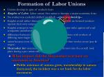 formation of labor unions