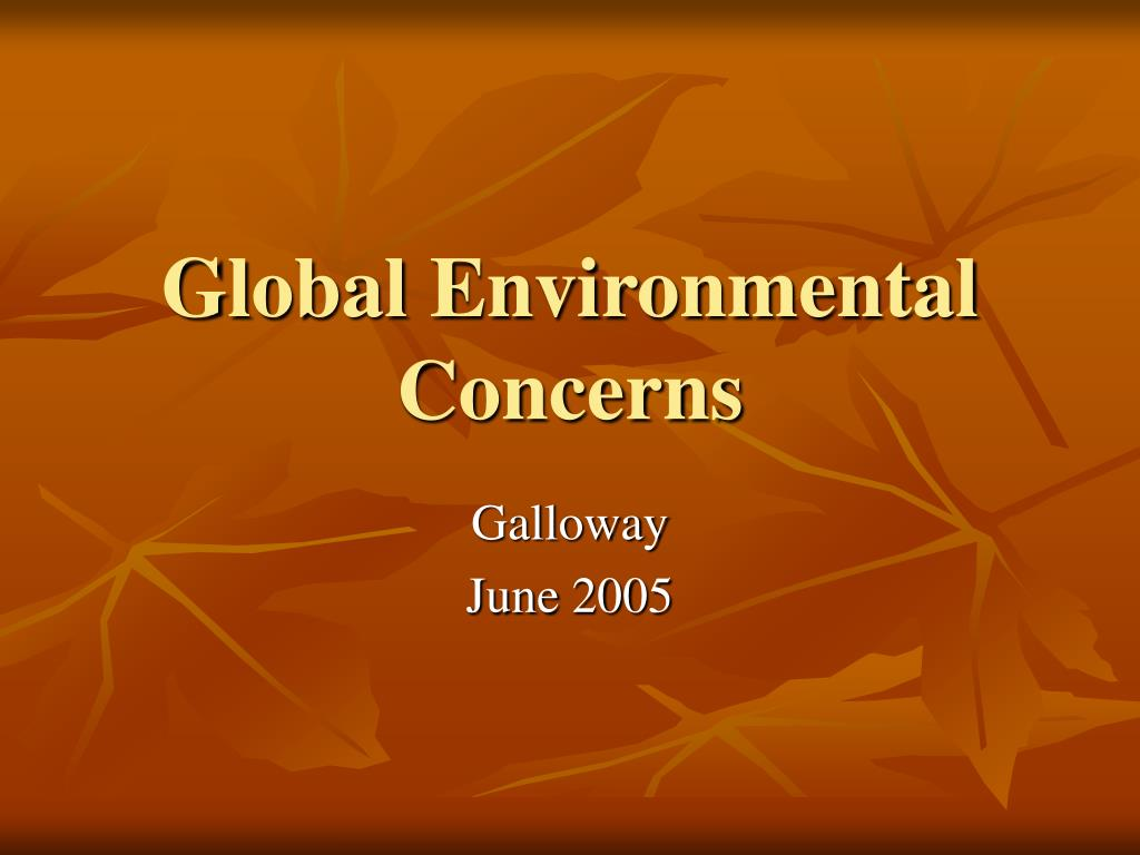 global environmental concerns l.