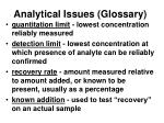 analytical issues glossary7