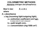 colorimetric methods nutrients nitrogen and phosphorus30