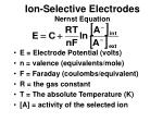 ion selective electrodes nernst equation