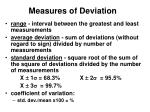 measures of deviation