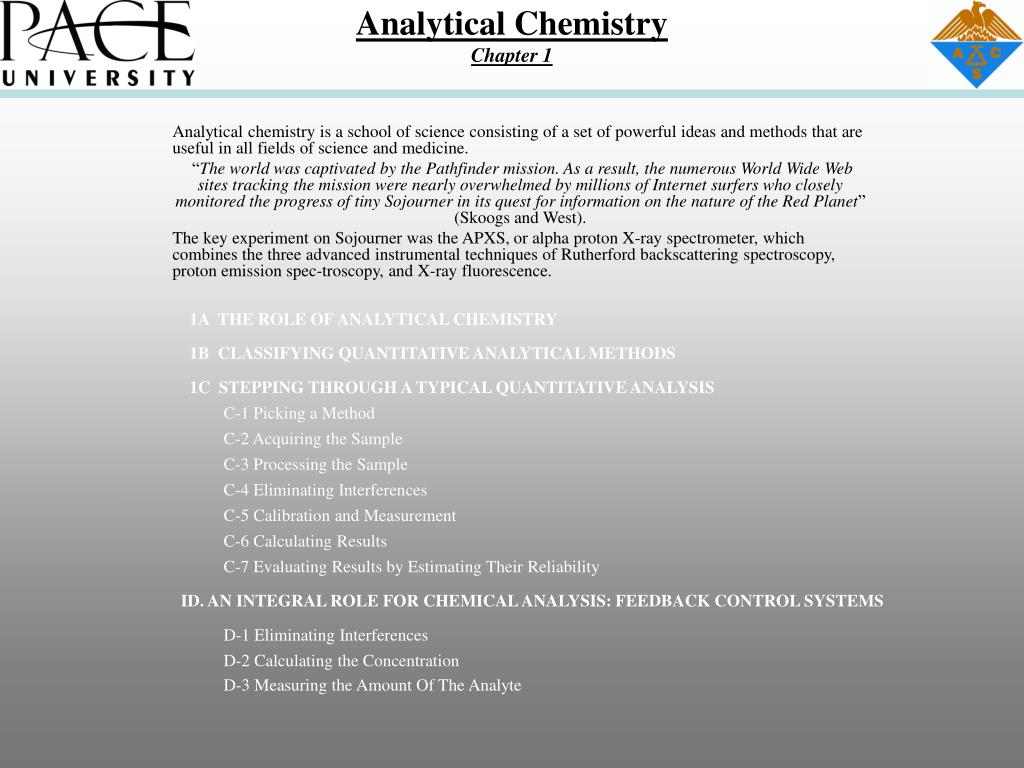 analytical chemistry chapter 1 l.