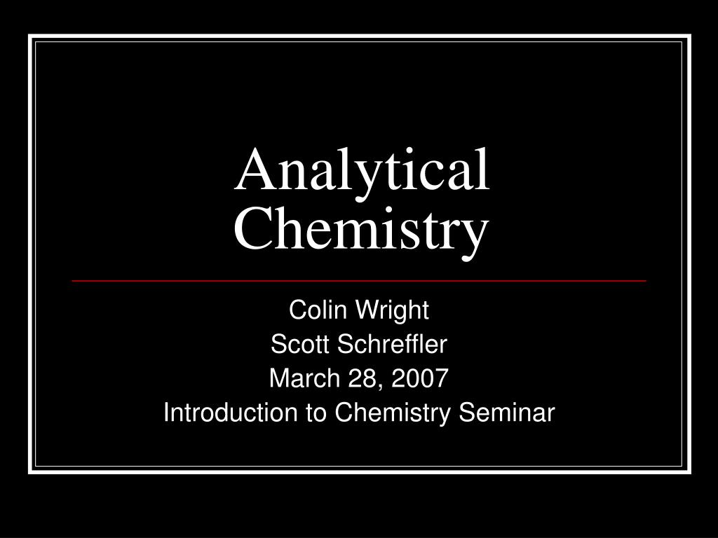 analytical chemistry l.