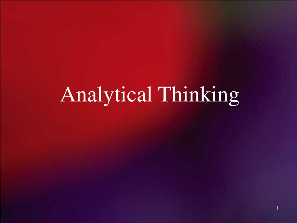 analytical thinking l.