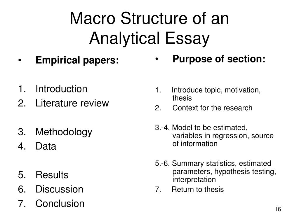 literature review research paper structure