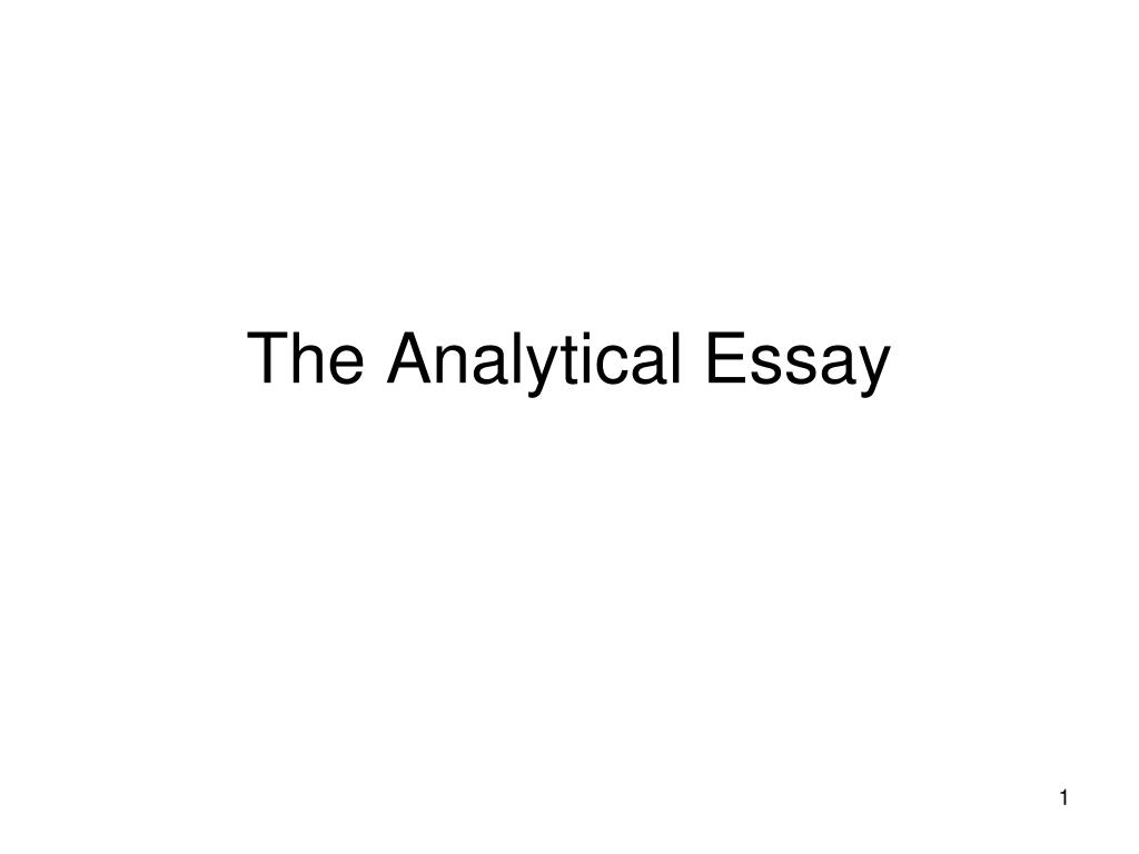 the analytical essay l.