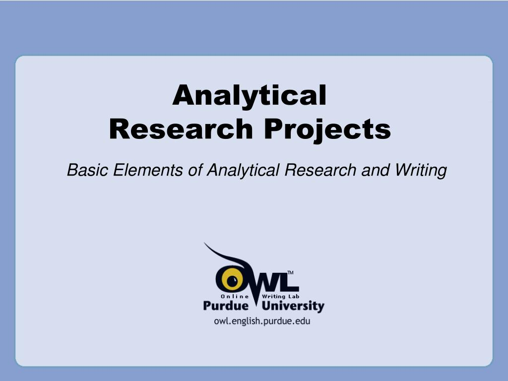 analytical research projects l.