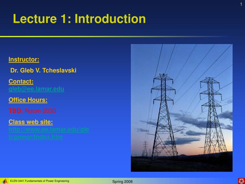 lecture 1 introduction l.