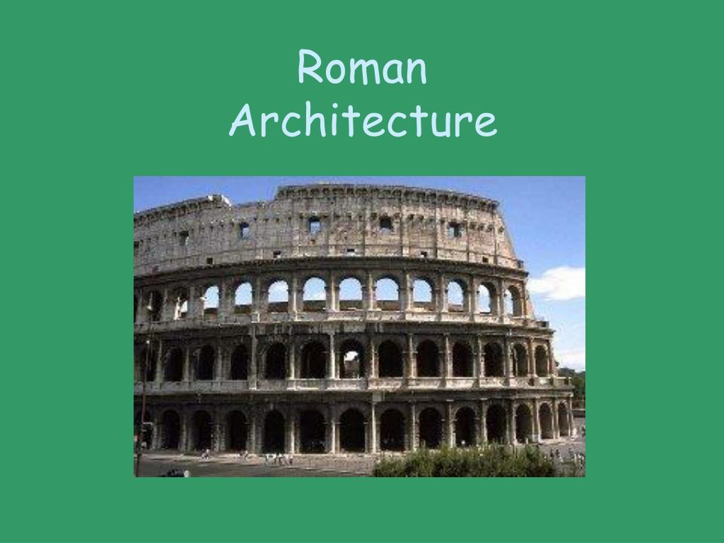 roman architecture l.