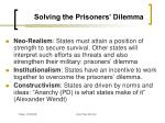 solving the prisoners dilemma