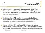 theories of ir