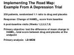 implementing the road map example from a depression trial