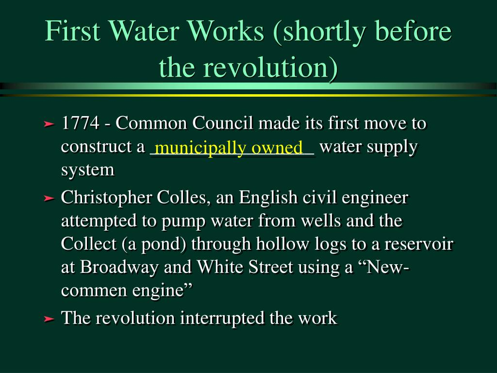 First Water Works (shortly before the revolution)