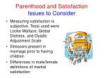 parenthood and satisfaction issues to consider