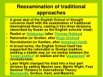 reexamination of traditional approaches