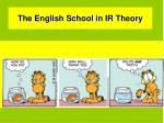 the english school in ir theory