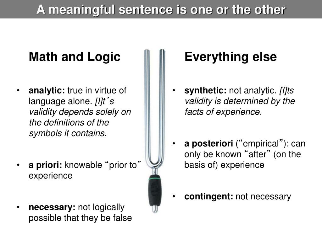 A meaningful sentence is one or the other