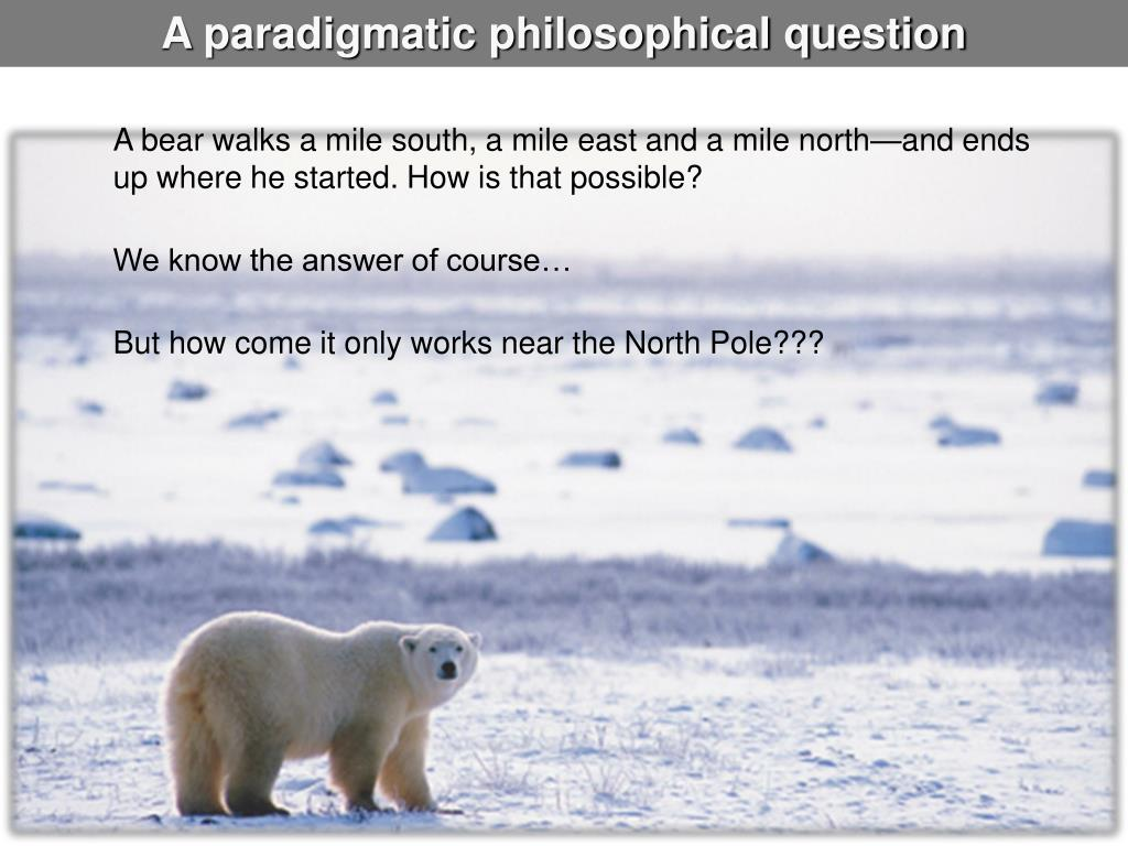 A paradigmatic philosophical question